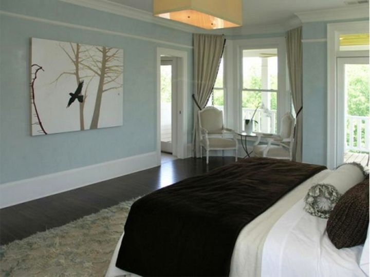 relaxing bedroom ideas with blue walls