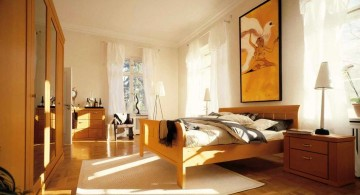 retro bedroom ideas in wood color palette