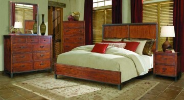retro bedroom ideas with antique woods