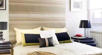 retro bedroom ideas with large headboard
