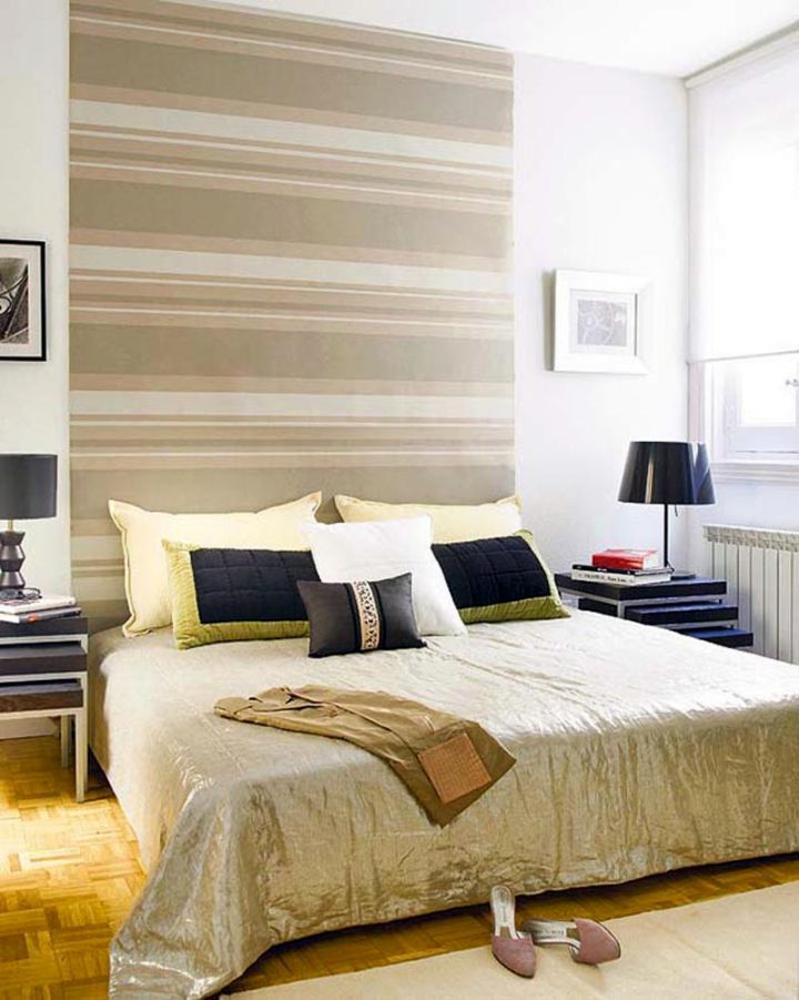 retro bedroom ideas with large headboard