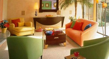 retro modern decor in earth tones