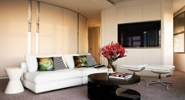 retro modern decor with unique coffee table