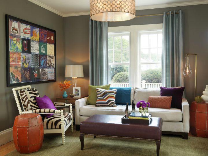 retro modern decor with zebra upholstery