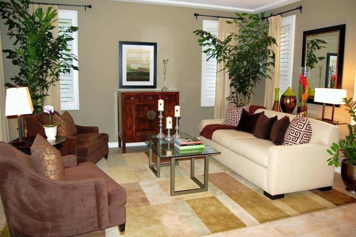 18 modern interior living room arrangement ideas for Family room arrangements