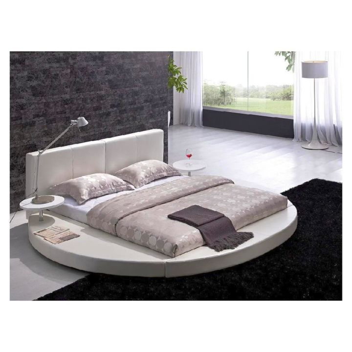 round bed frame with normal mattress