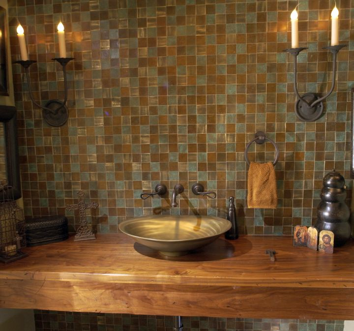 Rustic Mexican Wood Bathroom