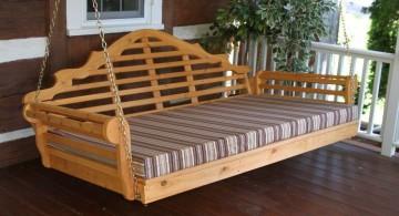 rustic Outdoor swinging beds