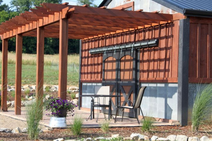 19 modern pergola kit designs for your outdoor shade for Rustic gazebo kits