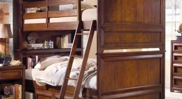 rustic bunk bed for adults with full covered bedside