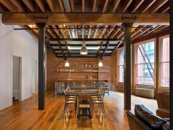 17 exposed beam ceiling designs in rustic but modern interior for Exposed beam house plans