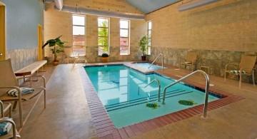 rustic enclosed swimming pool