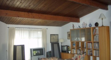 rustic exposed beam ceiling