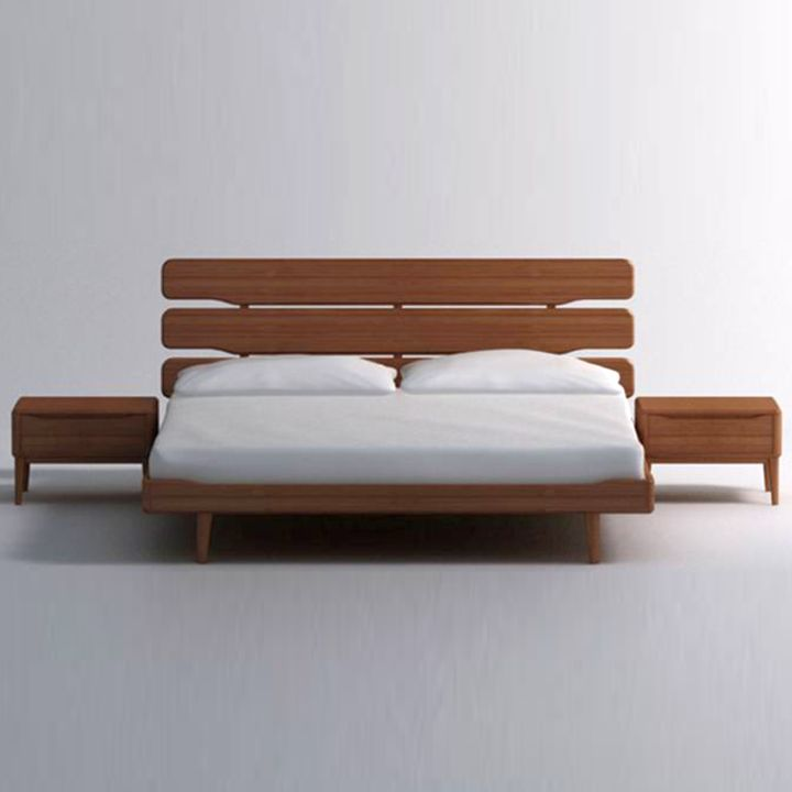 rustic modern floating bed