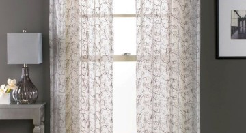 rustic sheer curtains privacy