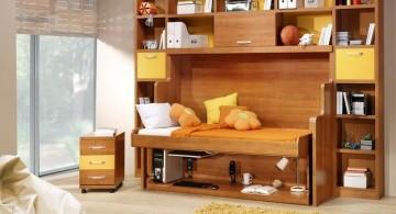 rustic side fold murphy bed unit