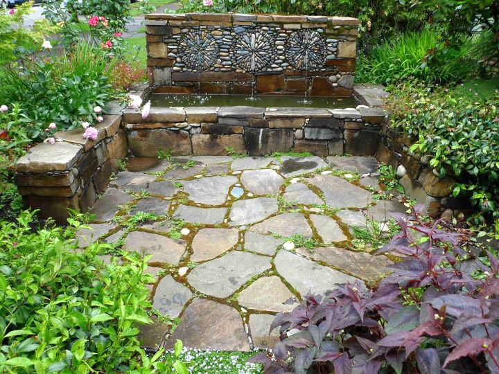 Garden Design With Rustic Simple Rock Garden Ideas With Fountain With  Garden Decor Ideas From Myaustinelite