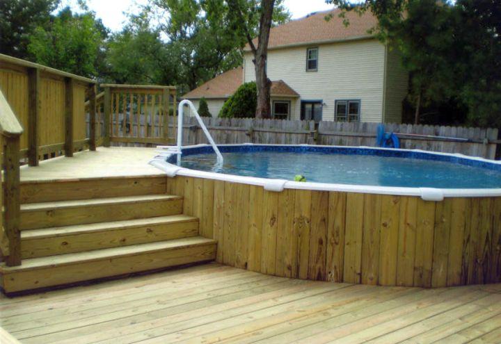 rustic small pool ideas