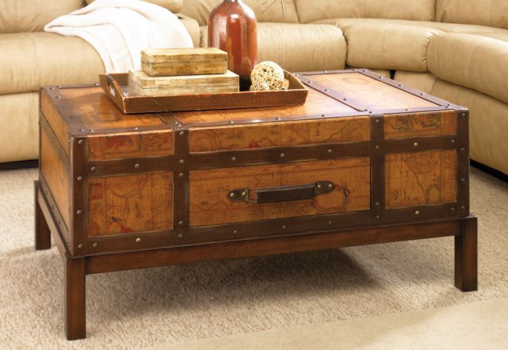 rustic trunk coffee table