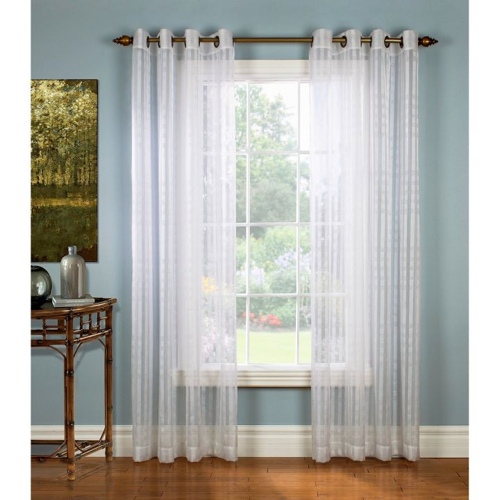 Sheer curtains privacy floating for Sheer drapes privacy