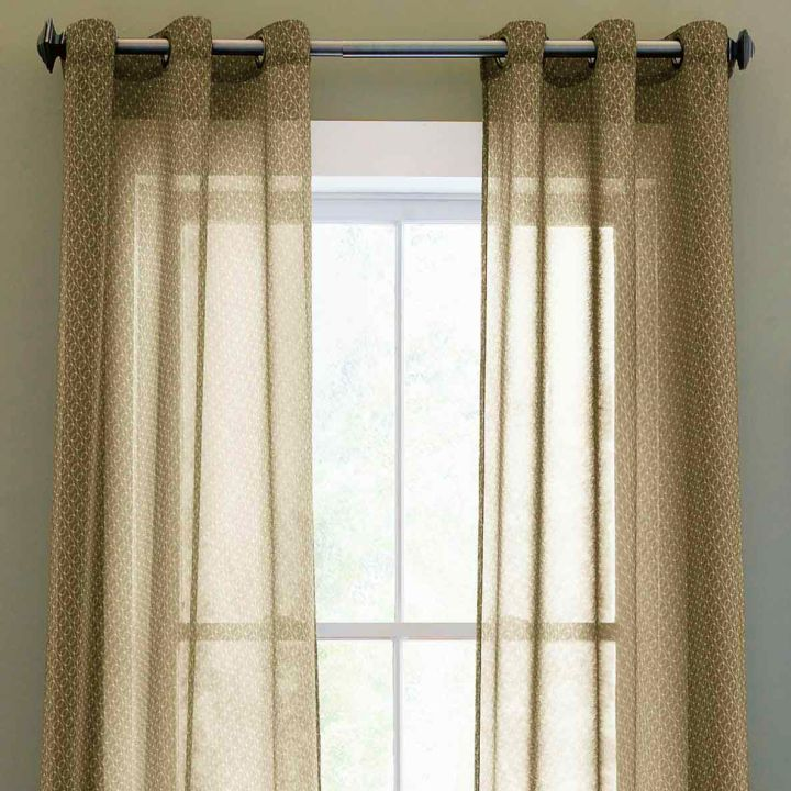 sheer curtains privacy in brown