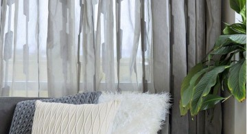 sheer curtains privacy with honeycomb  pattern