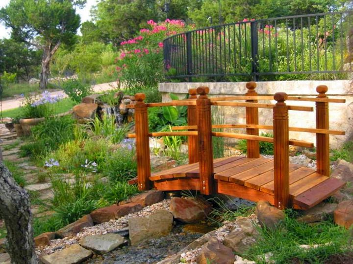 17 awesomely neat diy garden bridge ideas for Building a japanese garden in your backyard