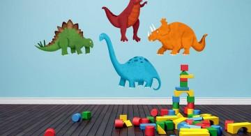 simple DIY dinosaur wallpaper mural
