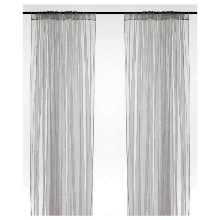 simple Ikea sheer curtains privacy