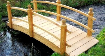 simple and rustic Japanese garden bridge plans
