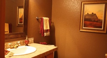 simple and warm brown bathrooms