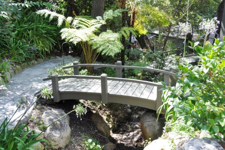simple beautiful Japanese garden bridge plans