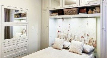 simple bedroom basement ideas with murphy bed