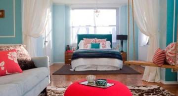 simple bedroom swing design as decoration for teenage girls room