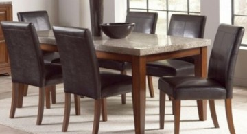 simple gorgeous granite dining room table