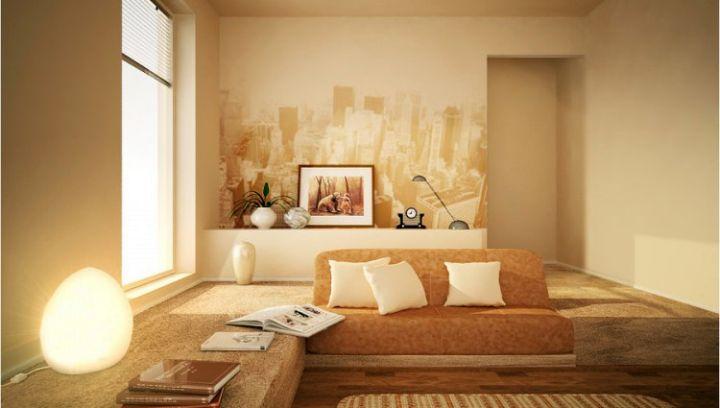 Wandfarbe beige wohnzimmer