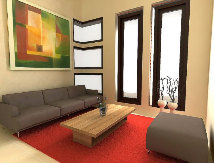 simple living room with low coffee table
