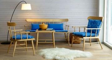 simple living room with minimalist rustic furniture