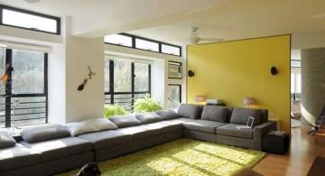 simple long living room