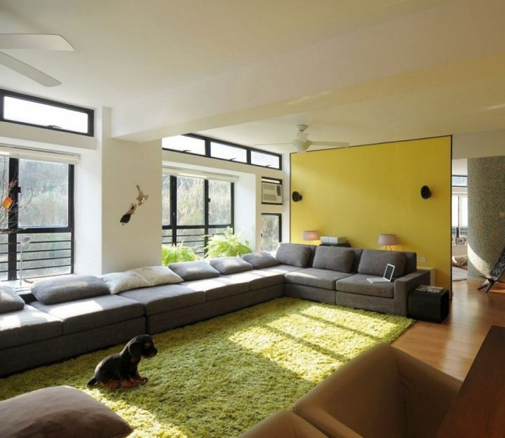 17 breathtaking modern long living room designs Living room ideas with light green walls
