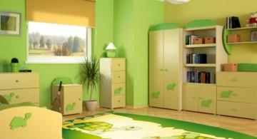 simple minimalist lime green bedroom
