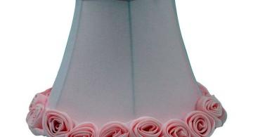 simple minimalist pink Rosette lamp shade