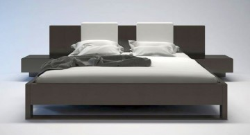 simple modern floating bed