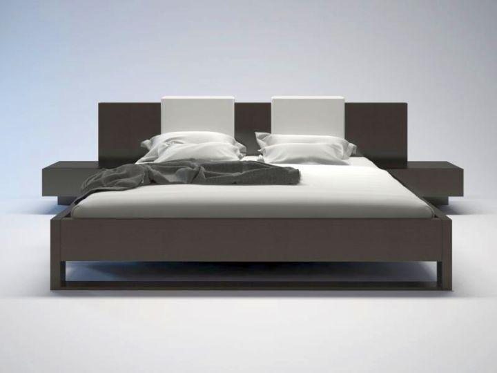 simple modern floating bed