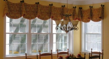 simple pinched bells types of valances