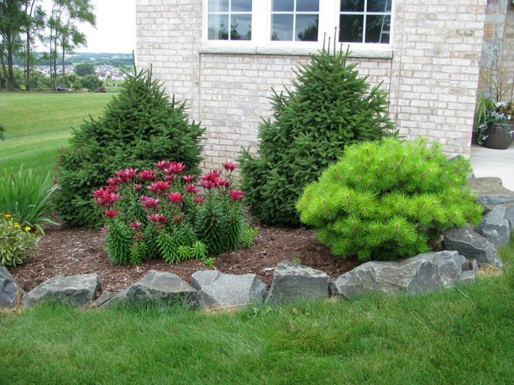 18 simple and easy rock garden ideas for Simple front yard landscaping