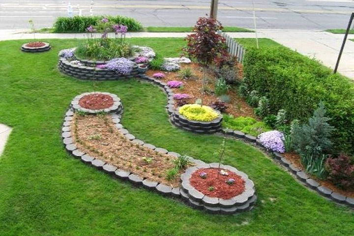 delighful garden ideas using stones rock flower bed wonderful - Garden Design Using Rocks