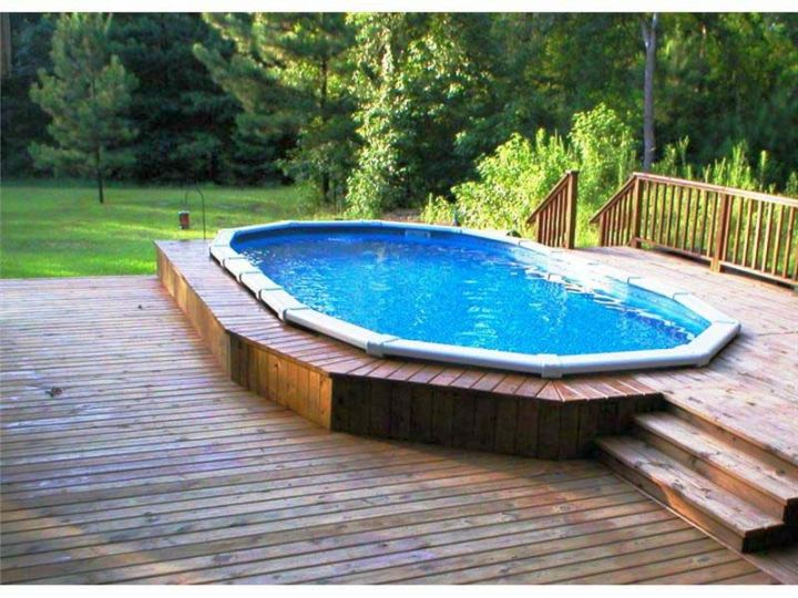 Simple Pool Ideas best 25 zero entry pool ideas on pinterest So What Do You Think About Simple Small Pool Ideas With Wooden Deck Above Its Amazing Right Just So You Know That Photo Is Only One Of 17 Enchanting