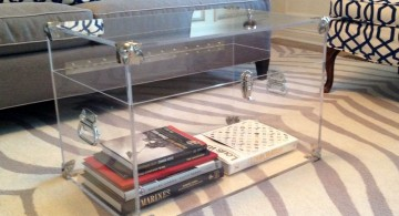 simple transparent trunk coffee table