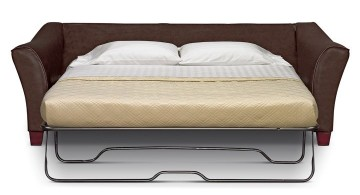 simple unique sleeper sofa in brown